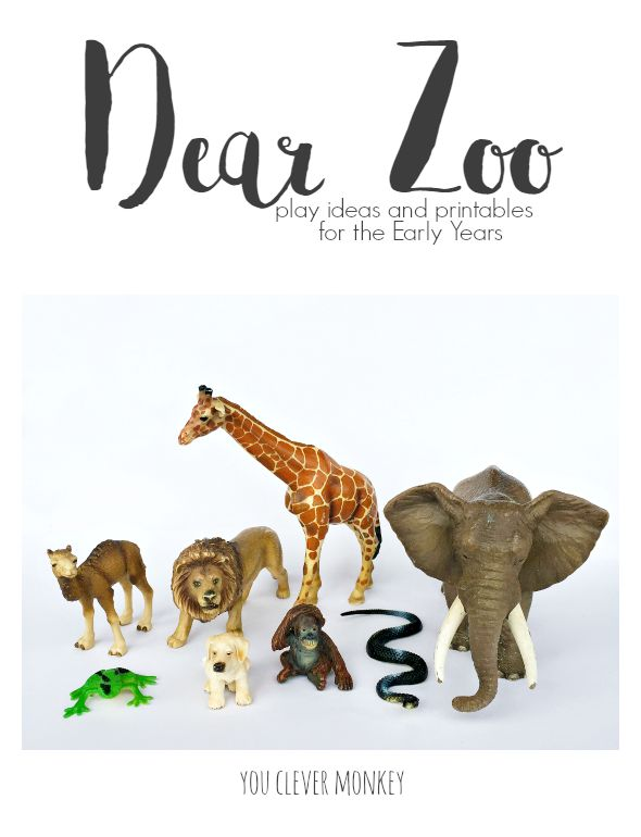 Dear Zoo is a perfect choice for book based learning in a Early Years setting. Plenty of play ideas, art activities and printables to engage young children in Early Childhood | you clever monkey