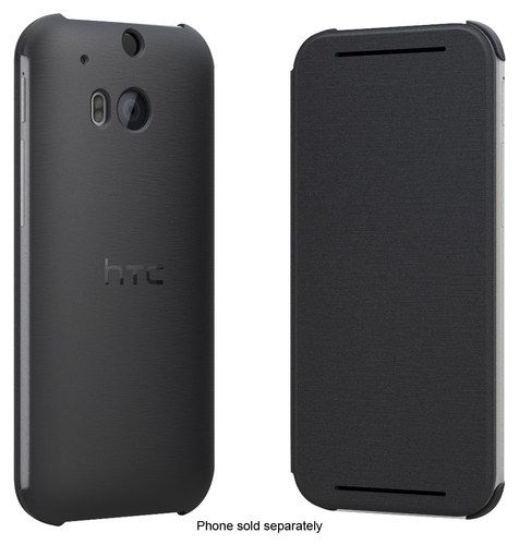 HTC - Flip Case for HTC One (M8) Cell Phones - Warm Black