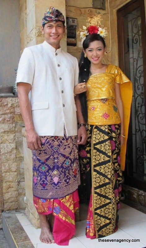 Traditional Balinese clothes. Indonesia.