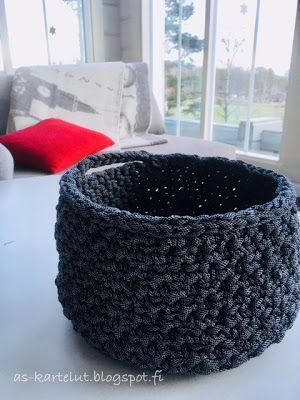 AS-kartelut: Virkattu kori #crochet #basket