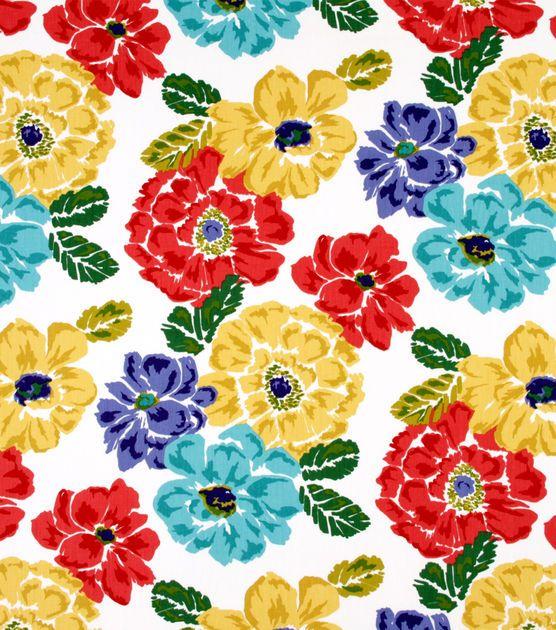 Robert Allen@Home Best Home Decor Print Fabric Bouquet Calypso
