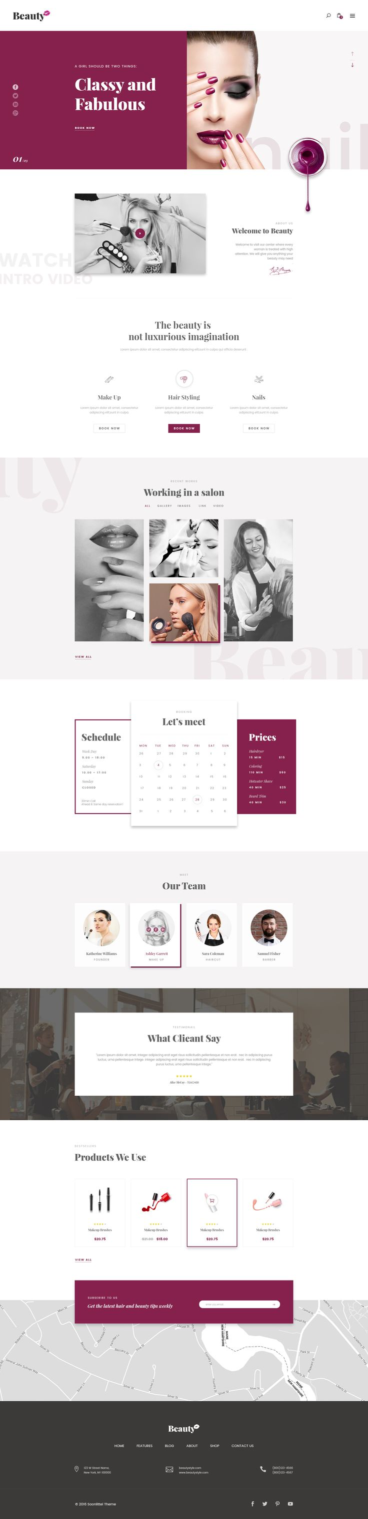Beauty Hair Salon #psd #beauty shop #spa • Download ➝ https://themeforest.net/item/beauty-hair-salon/18700027?ref=pxcr