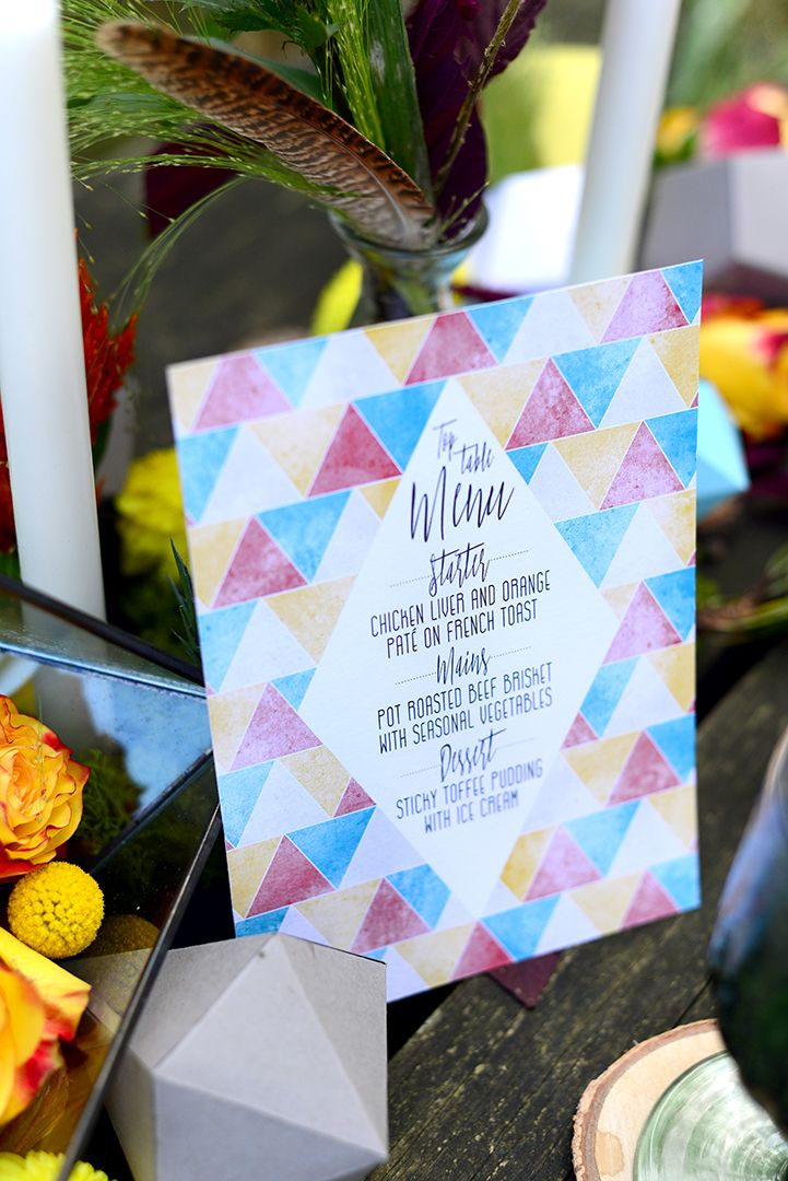 Modern Geometric Woodland Wedding Inspiration