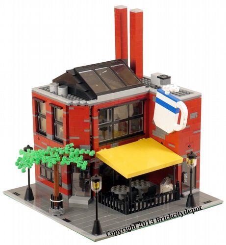 Smokestacks Coffee House - Modular Building: A LEGO® creation by Brian Lyles : MOCpages.com