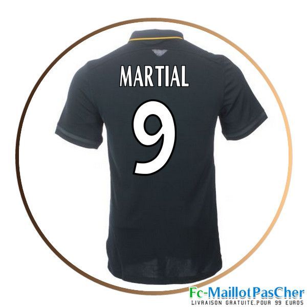 Maillot de football AS Monaco noir MARTIAL 9 Exterieur 15 2016 2017