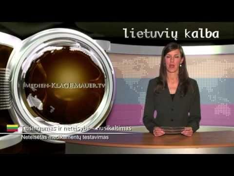 Neteisėtas medikamentų testavimas   Lietuvių   klagemauer.tv