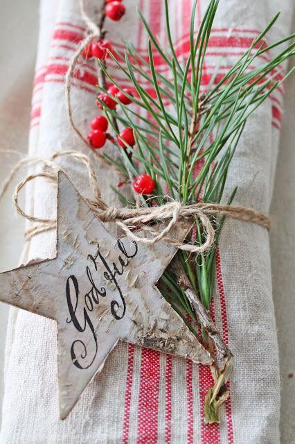 Napkin decoration for Christmas ~