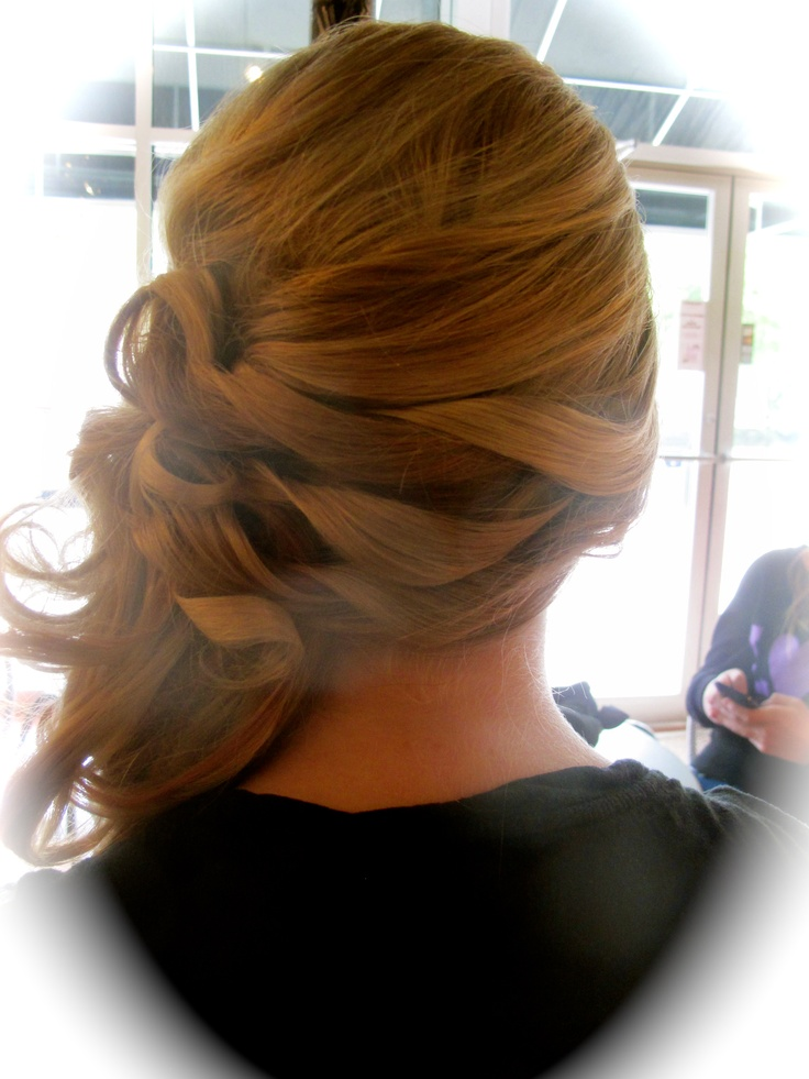 Cute way to get hair from one side to the other instead of braiding it!