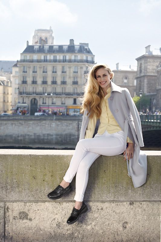 NAOT - EDELINA Black Combo (Lifestyle Image) #NAOT #footwear #shoes #slipon #orthoticfriendly #removableinnersole #velcro #fashion #comfort #winter #footwear #paris #leftbank #trends