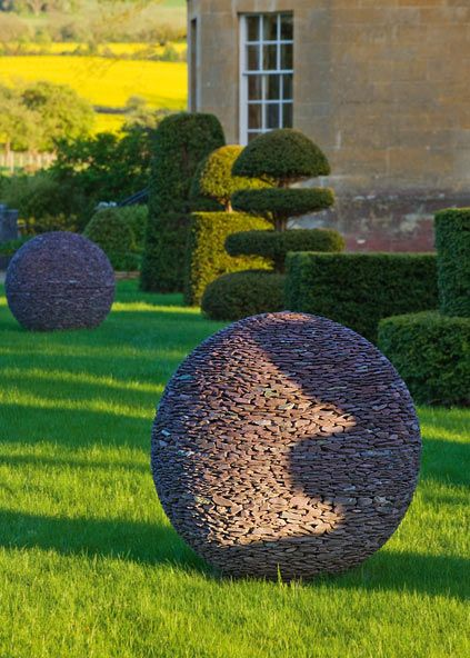Slate garden sphere  This lights up. Cool website.