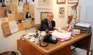 Ian Hislop in the editor's office at Private Eye
