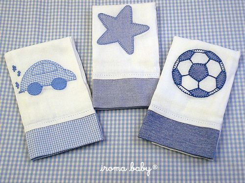 Toalhas de boca para menino by Iroma Baby