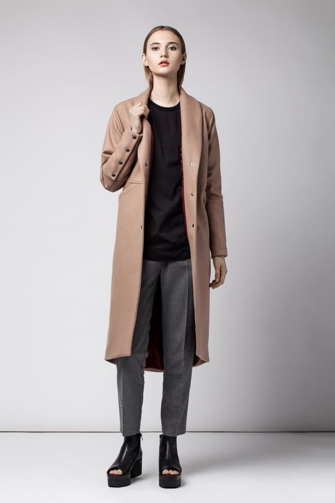Female camel coat