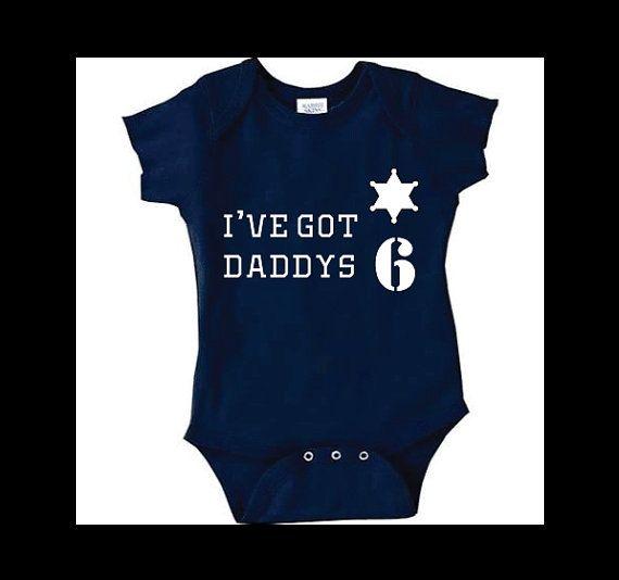 Police Baby Onesie Police I've got Daddy's 6 by StampedbyShaye, $14.00