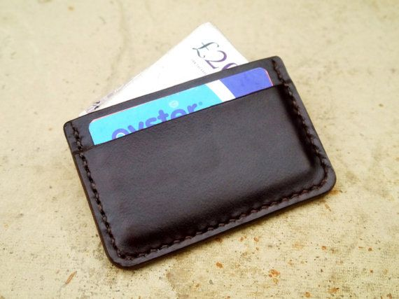 Leather Wallet / Card Holder A Handmade Mens by KingsleyLeather