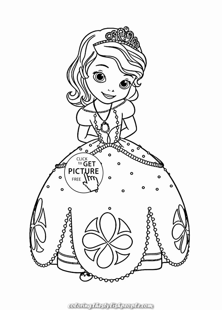 Coloring Pages For Kids Princess Sofia Disney Princess Coloring Pages,  Rapunzel Coloring Pages, Cartoon Coloring Pages