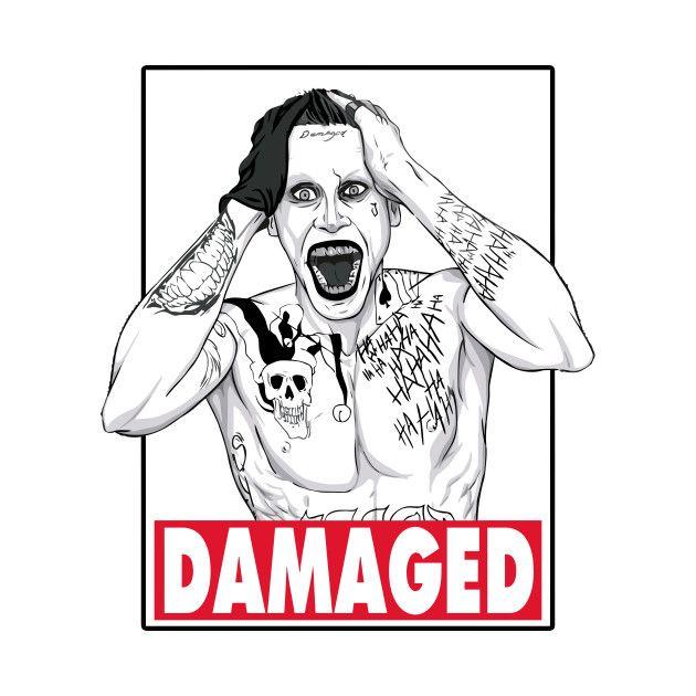 Awesome 'Joker+-+Damaged' design on TeePublic!