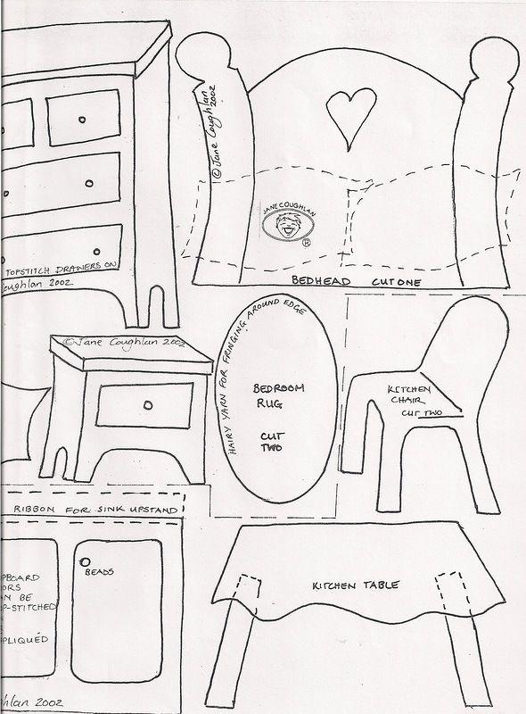 Домик для куклы из ткани выкройки