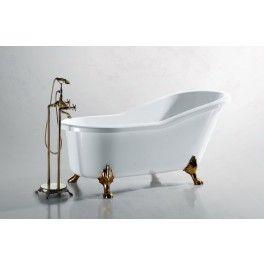 Scelta Freestanding Slipper Bath. This freestanding bath with a contemporary minimalistic design is ideal for a medium sized bathroom.  Description:  Dimension (MM): Bathtub1800 x 850 x 880