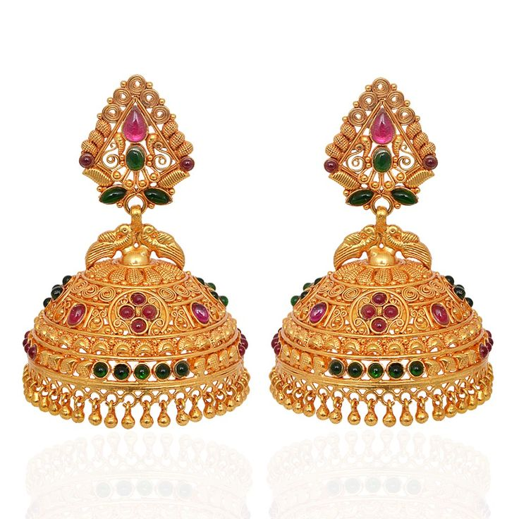 jhumki-Earrings | Beautiful Annapakshi Silver Jimmiki | GRT Jewellers