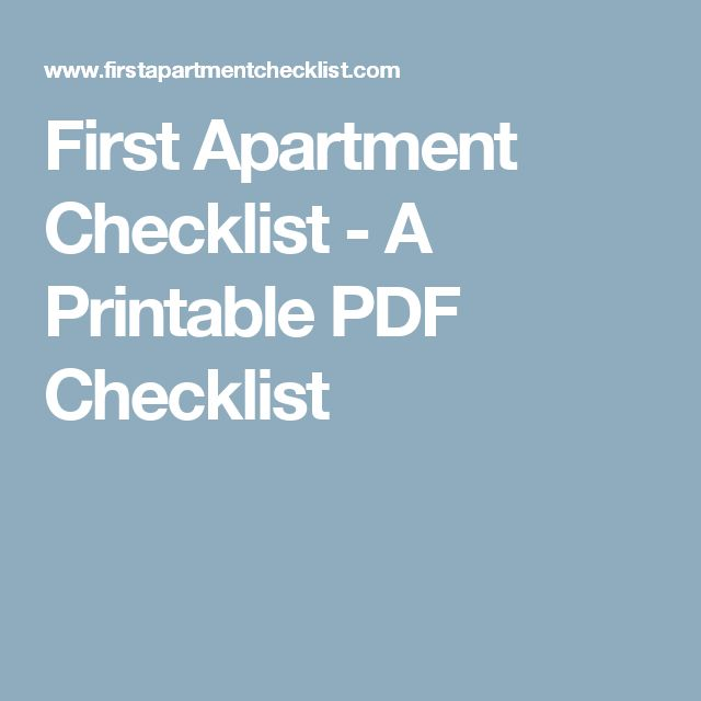 Best 25+ First apartment checklist ideas on Pinterest | First ...