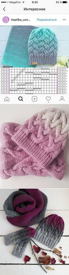 2293 best Dos agujas: gorros para dama images on Pinterest ...