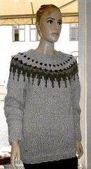 Sweater med Fair Isle mønster - strikkeopskrift