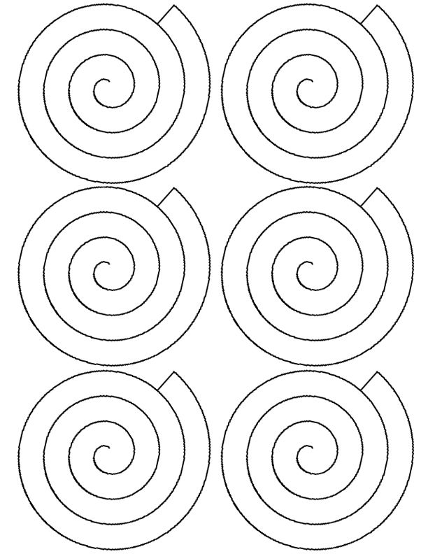 Spiral roses pattern christmas cuties pinterest for Rolled paper roses template