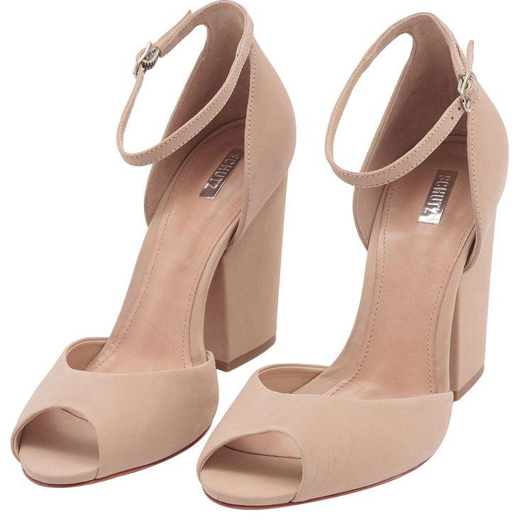Sandália salto grosso - OQVestir