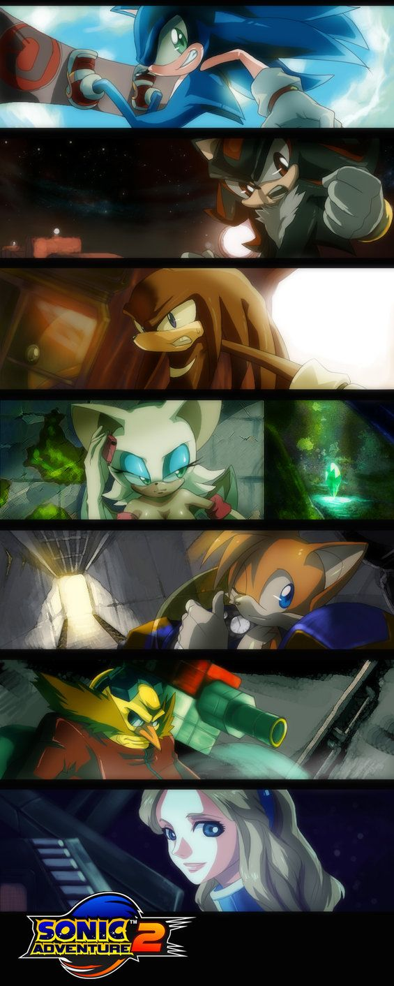 Sonic Adventure 2 by: E09ETM on deviantART -OMG... THEY DIDNT LEAVE MARIA OUT ONES  OMG