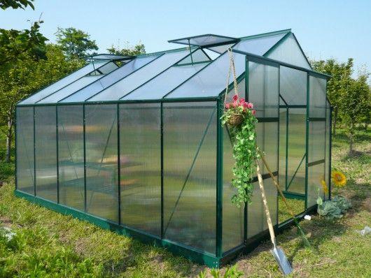 Serre de jardin en polycarbonate kalida de 13m prix serre de jardin pas cher - Petite serre de jardin pas cher ...