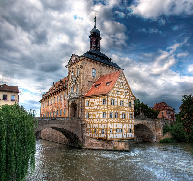 Bamberg, Germany - a quaint town left untouched by the wars.  Fun to visit and well known for having a ton of breweries!