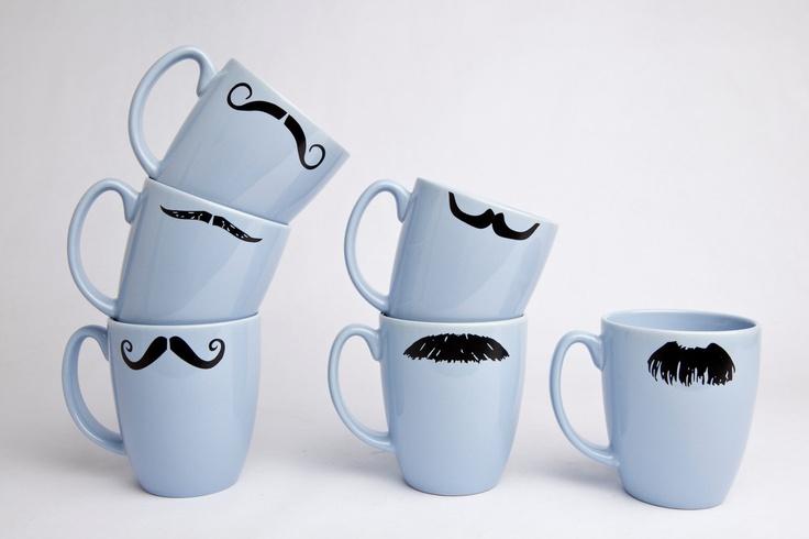 Mustache Coffee cups, funny design