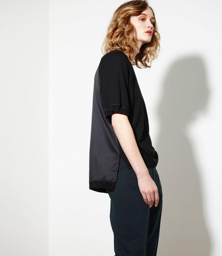 Modernist Top in Black - Cashmere/silk/merinowww.nineteen46.co.nz