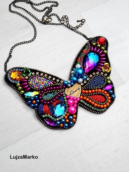 LujzaMarko / Gypsy butterfly náhrdelník