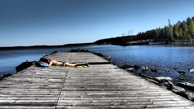 Sunbathing some more in Rauhaniemi, Tampere, Finland. #tampereblog