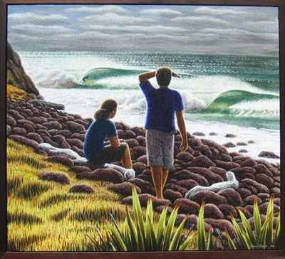 #tony ogle #surf art #kiwiana