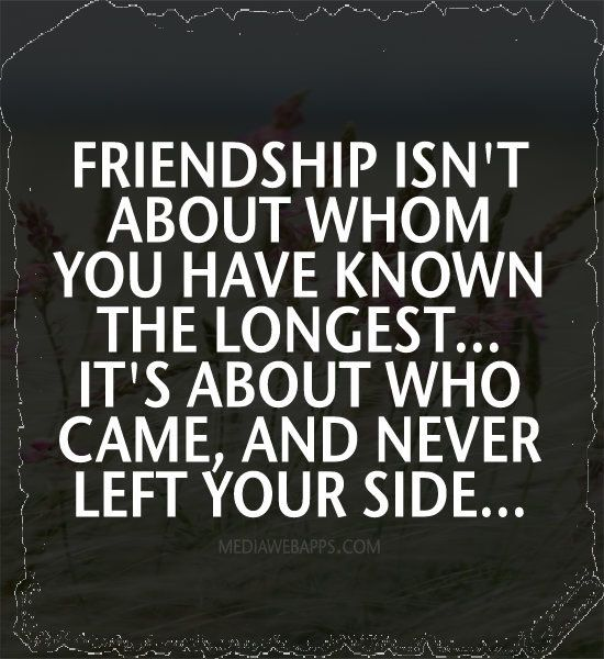 Friendship Isnt About Whom You Have Known The Longest Its About