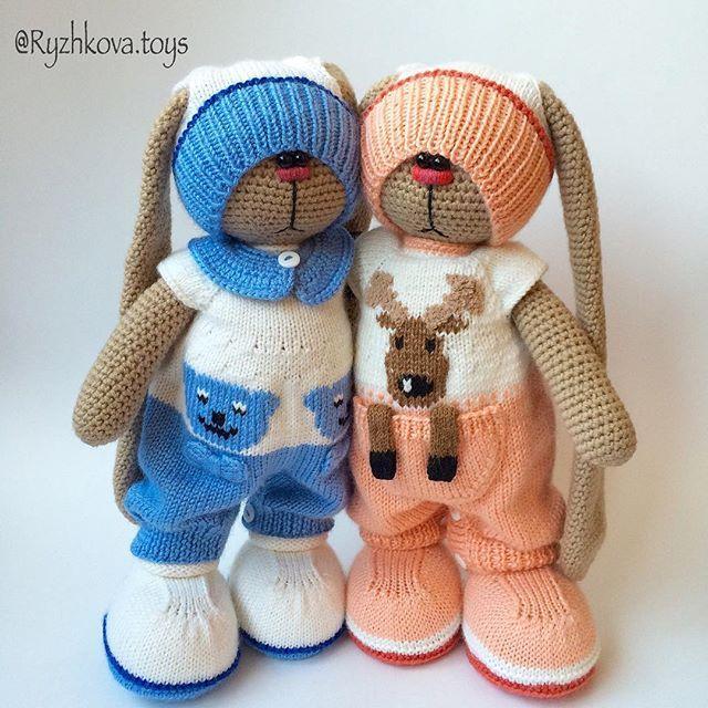 #амигуруми #заяц #вязаныйзаяц (Автор идеи Бэла Макаева)