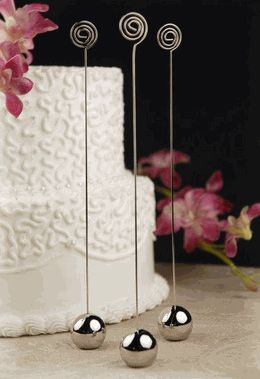 Wedding Table Number and Sign Holders (6 pieces/pkg) $18.... Good place for cheap crafts