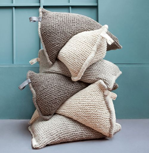 "I think something like this is in my future . . . maybe out of recycled sweaters. [First I'm going to try making something like this out of a burlap coffee sacks for floor pillows. Need a creative idea for an upcycled ""handle."" ]"