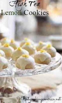 High Tea Lemon Cookies Recipe