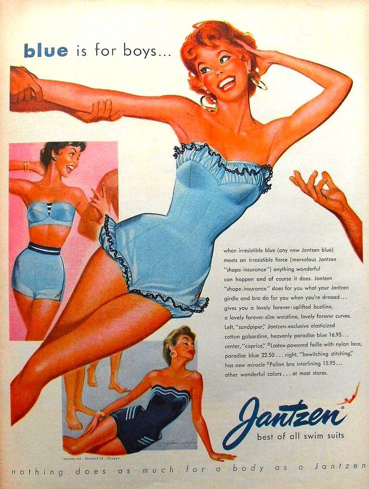 1950s Jantzen swimusit women fashion illustration