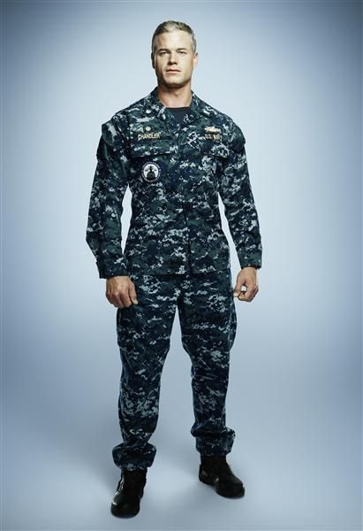 "Eric Dane on portraying US Navy Commander Tom Chandler on 'The Last Ship':""You put on the uniform and you just walk a little taller, you stand a little straighter. About 80 percent of the job is done just putting on the uniform. Then you just kinda throw yourself into the circumstances and you trust what the Navy has told you. We have amazing liaisons and technical advisers in the United States Navy, and the Department of Defense has been very generous with their time and their resources."