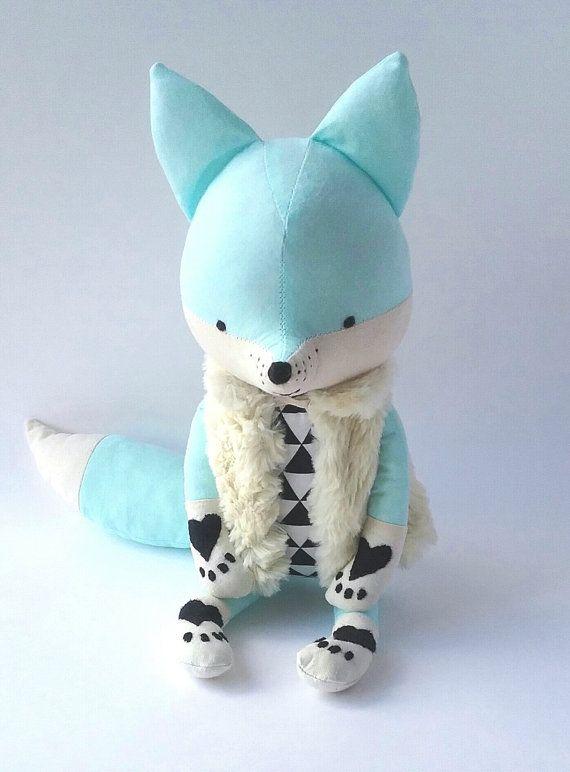 AKI le renard. sur commande. Eco fox. peluche renard. par LESNE