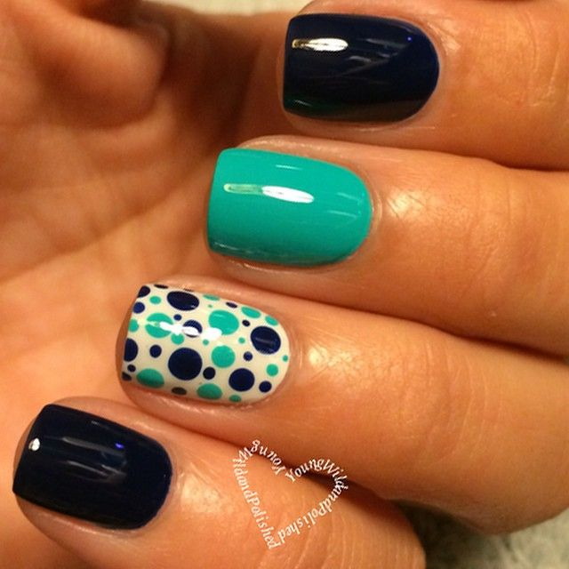 Simple mixed polka dots ===== Check out my Etsy store for some nail art supplies https://www.etsy.com/shop/LaPalomaBoutique