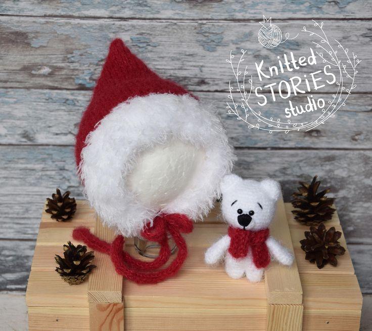 Christmas Elf, Newborn hat ,Newborn Christmas prop,Hat Elf,Prop set,toy teddy,newborn bonnet,Christmas outfit,Baby hat,Newborn photography