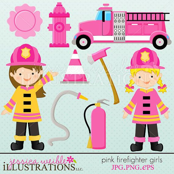 scrapbooking firefighter | ... Scrapbooking, and Web Design, Firefighter Clipart by JW Illustrations