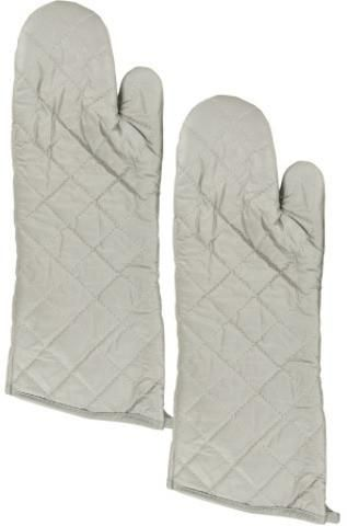 Large Silver Oven Mitts Set Case Pack 12