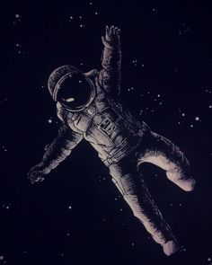 I want to draw a picture of an astronaut in space with a gun to his head but, have it wear he is blowing the galaxy out his head instead of his brain. Or maybe have the astronaut float in darkness.